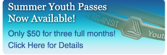 Summer Youth Pass Available